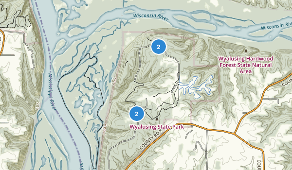Wyalusing State Park Map
