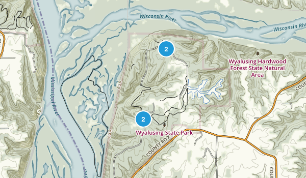 Wyalusing State Park Map