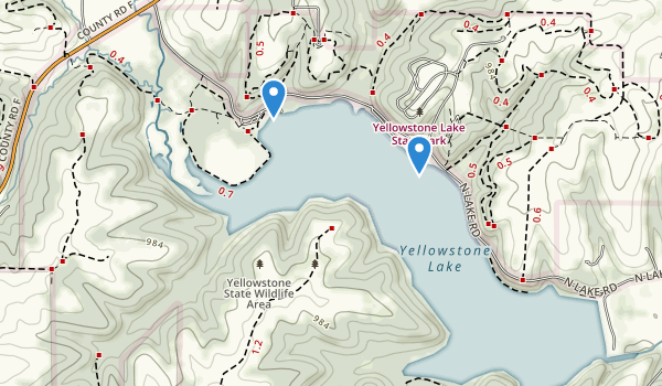 Yellowstone Lake State Park Map