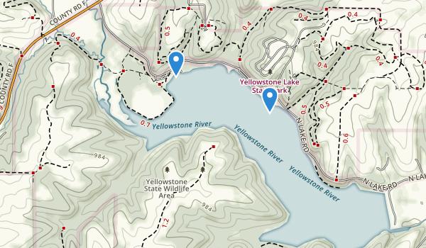 Yellowstone Lake State Park Map