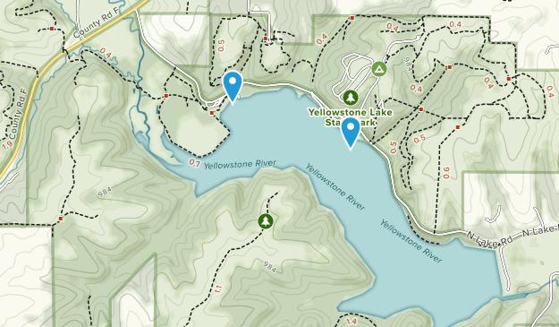 Parque Estatal de Yellowstone Lake Map