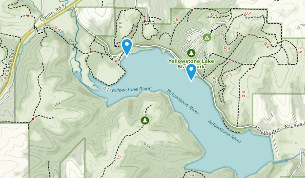 Best Trails in Yellowstone Lake State Park - Wisconsin | AllTrails on yosemite rv parks map, cody wyoming rv parks map, black hills rv parks map,