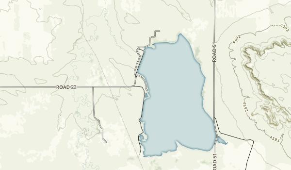 Hawk Springs Recreational Area Map