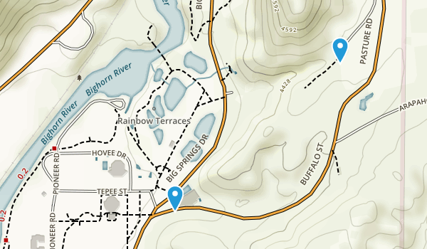 Hot Springs State Park Map