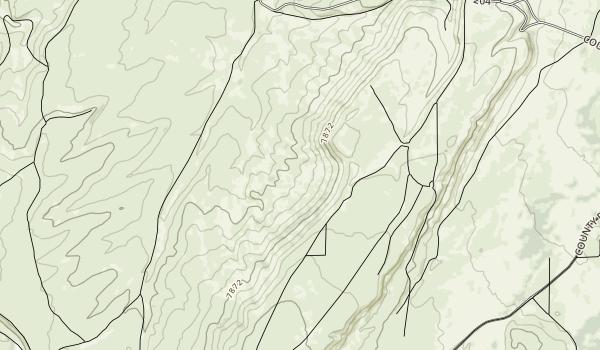 Piedmont Charcoal Kilns Map