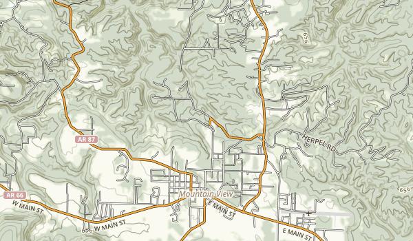 Ozark Folk Center State Park Map