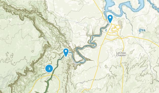 Área recreativa nacional Glen Canyon Map