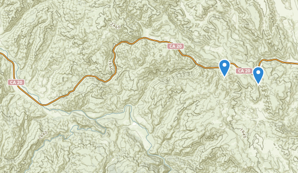 Cache Creek Natural Area Map