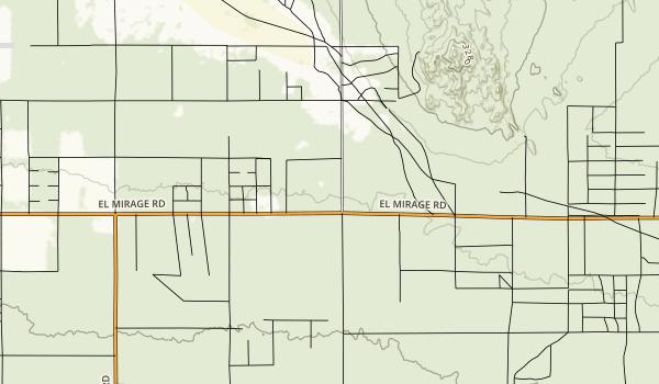 El Mirage Recreation Management Area Map