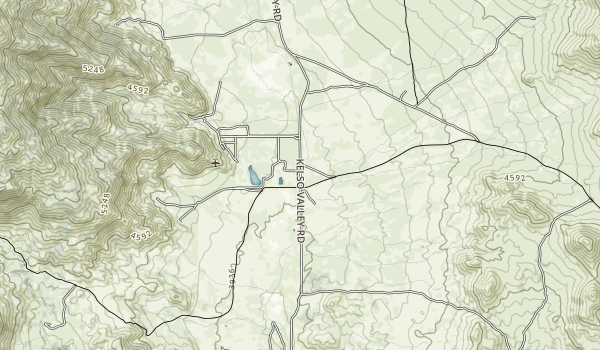 Jawbone/Butterbredt Recreation Management Area Map