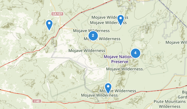 trail locations for Mojave National Preserve