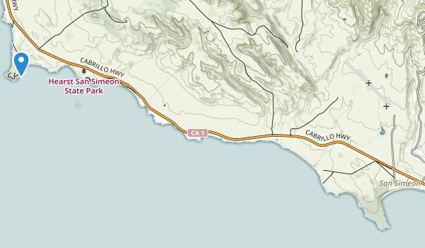trail locations for San Simeon State Park
