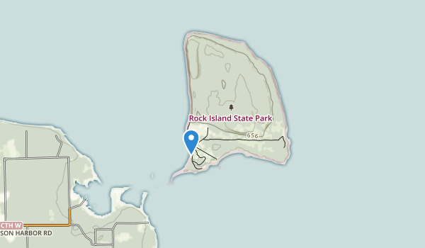 trail locations for Rock Island State Park