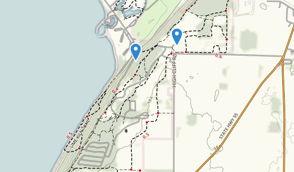 High Cliff State Park Map