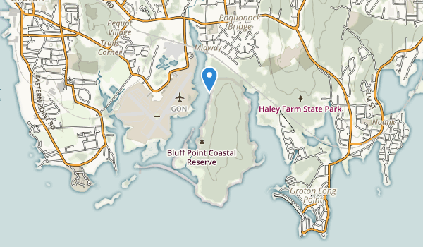 trail locations for Bluff Point State Park