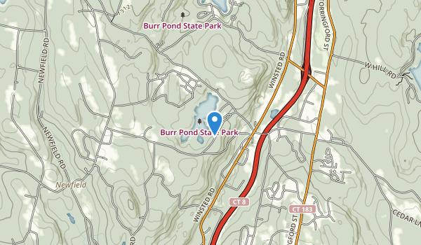 Burr Pond State Park Map
