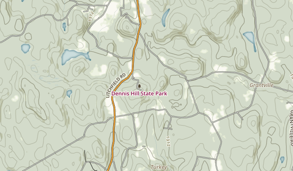 Dennis Hill State Park Map