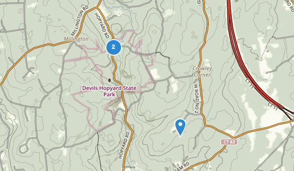trail locations for Devil's Hopyard State Park