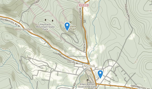 Haystack Mountain State Park Map