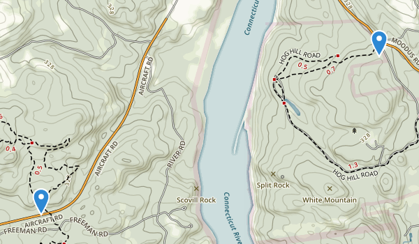 trail locations for Hurd State Park