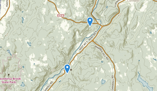 trail locations for Kent Falls State Park