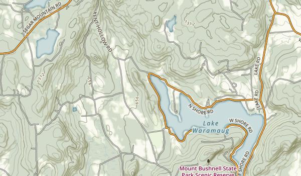 Lake Waramaug State Park Map