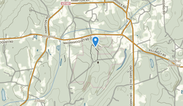 trail locations for Mashamoquet Brook State Park