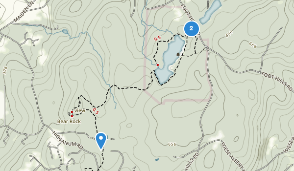 trail locations for Millers Pond State Park