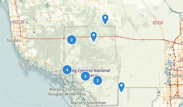 Big Cypress National Preserve Map
