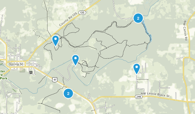 Big Shoals State Park Map