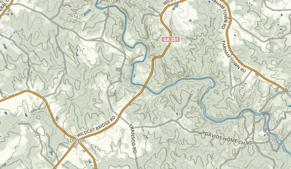 Broad River Natural Area Map