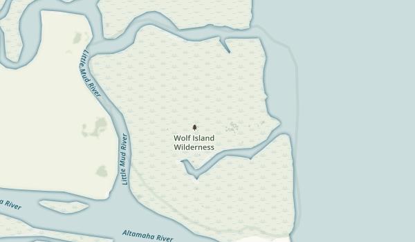 Wolf Island Wilderness Map