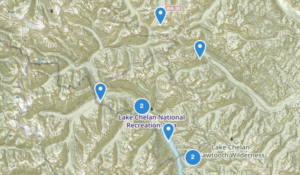 Lake Chelan National Recreation Area Map