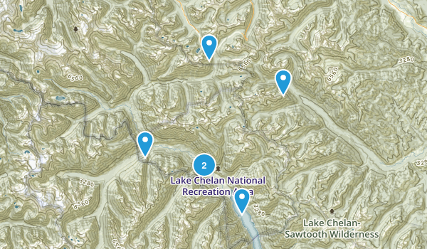 Lake Chelan National Recreation Area Map