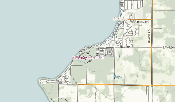 trail locations for Birch Bay State Park