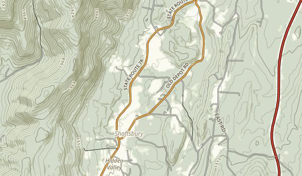 Lake Shaftsbury State Park Map