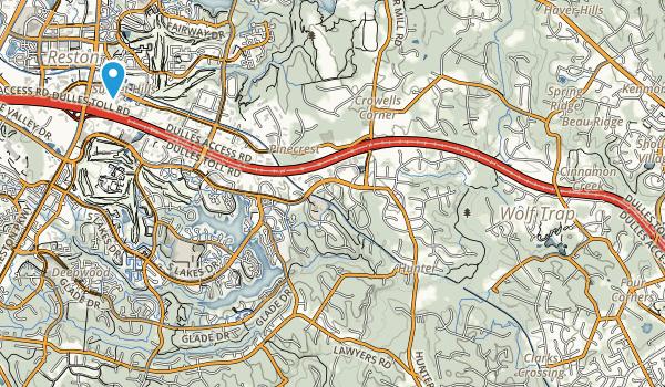 Washington & Old Dominion Railroad Regional Park Map