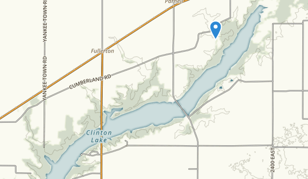 Clinton Lake State Recreation Area Map