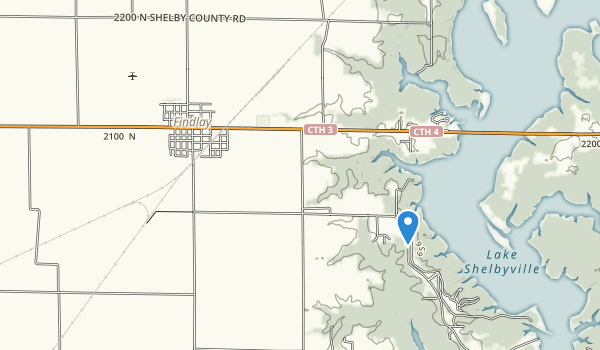 Eagle Creek State Recreation Area Map