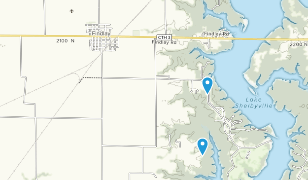 Eagle Creek State Recreation Area Map