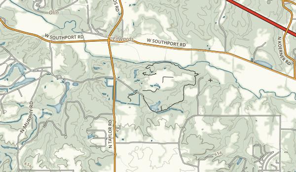 Hazel & Bill Rutherford Wildlife Prairie State Park Map