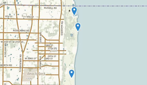 Illinois Beach State Park Map