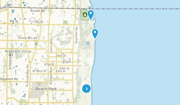 Parque Estatal de Illinois Beach Map