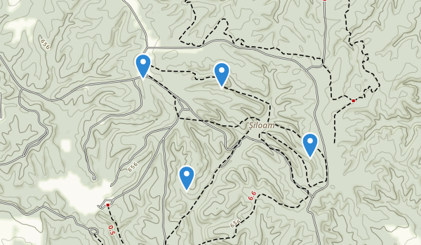 trail locations for Siloam Springs State Park