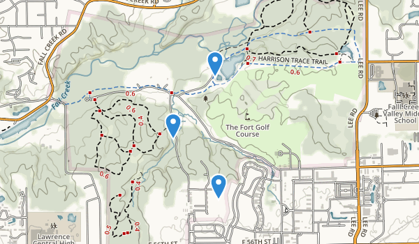 trail locations for Fort Harrison State Park