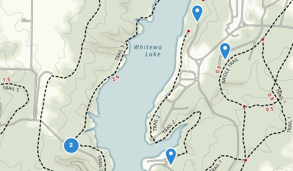 trail locations for Whitewater Memorial State Park