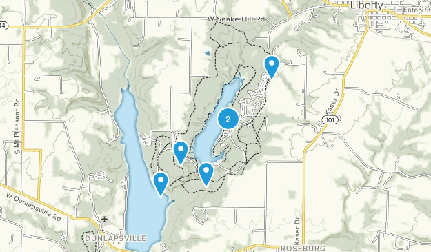 Whitewater Memorial State Park Map