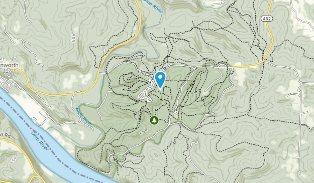 O'Bannon Woods State Park Map
