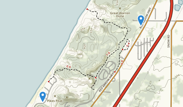 best trails in warren dunes state park. Black Bedroom Furniture Sets. Home Design Ideas