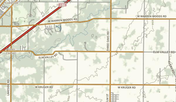 Warren Woods State Park Map